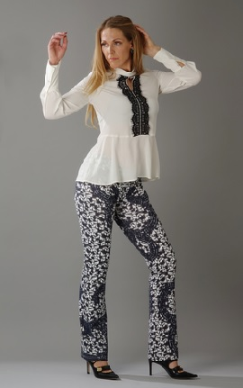 Mosaic Pants black/silver