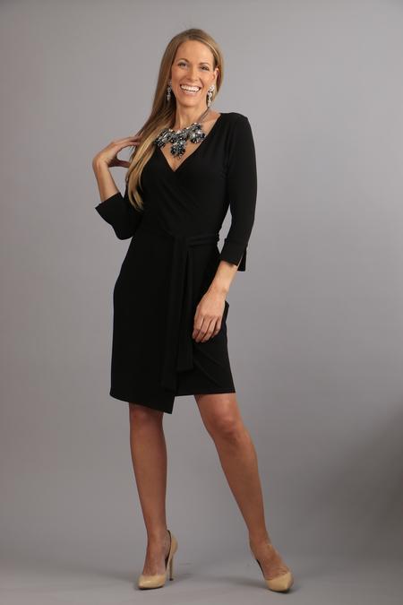 Wrap dress fuchsia
