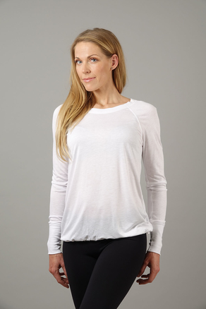 Warm Up Top Long Arm white