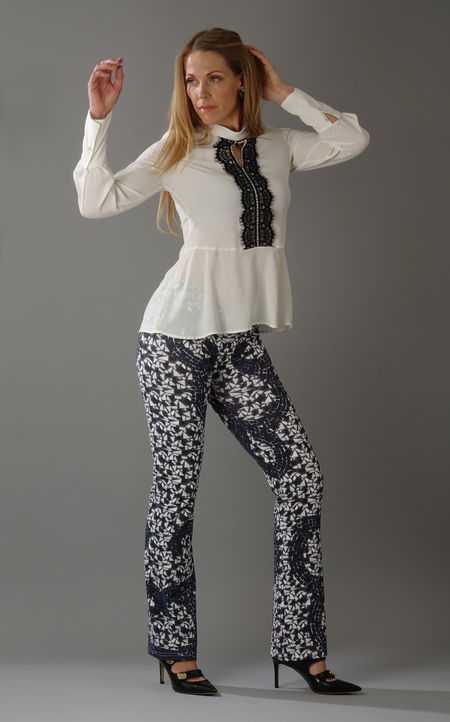 Mosaic Pants grey/white
