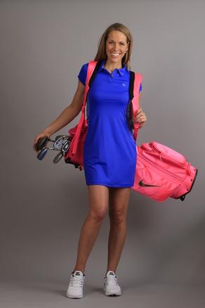 Polo Logo Dress Sporty blue