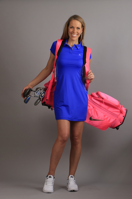 Polo logo dress blue