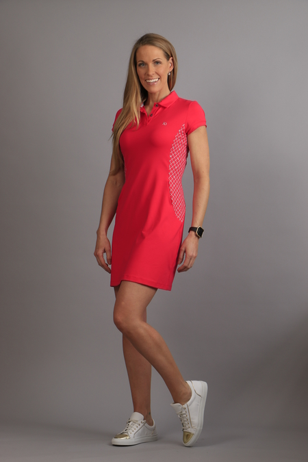 Polo Logo Dress fuchsia